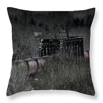 Westbound Grain II Throw Pillow by Brad Allen Fine Art