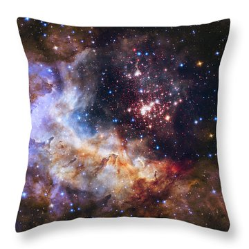 Westerlund 2 - Hubble 25th Anniversary Image Throw Pillow