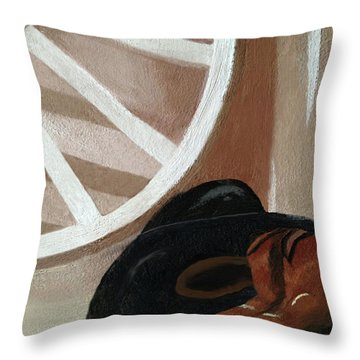 Western Art Work For Luke Throw Pillow