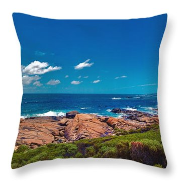 Throw Pillow featuring the photograph Western Australia Beach Panorama Margaret River by David Zanzinger