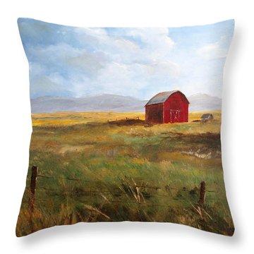 Western Barn Throw Pillow