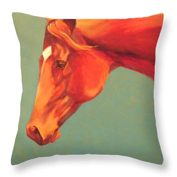Western Champion Throw Pillow by Pam Talley