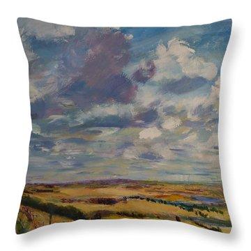 Skies Westward Throw Pillow