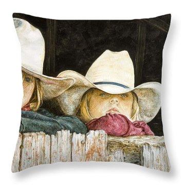 Western Daydreams  Throw Pillow