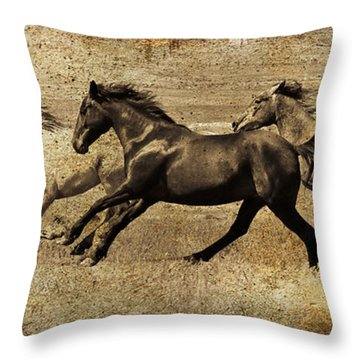 Western Flair Throw Pillow by Steve McKinzie