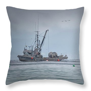 Throw Pillow featuring the photograph Western Gambler And Marinet by Randy Hall
