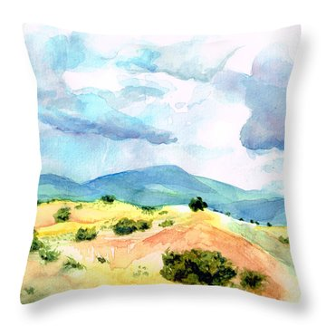 Western Landscape Throw Pillow