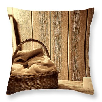 Western Laundromat   Throw Pillow by American West Legend By Olivier Le Queinec