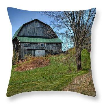 Western Pennsylvania Country Barn Throw Pillow