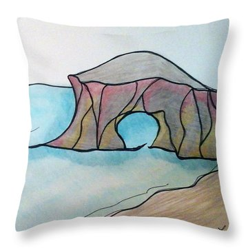 Western Sea Throw Pillow