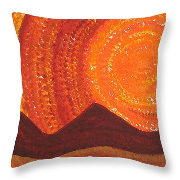 Western Sky Wave Original Painting Throw Pillow