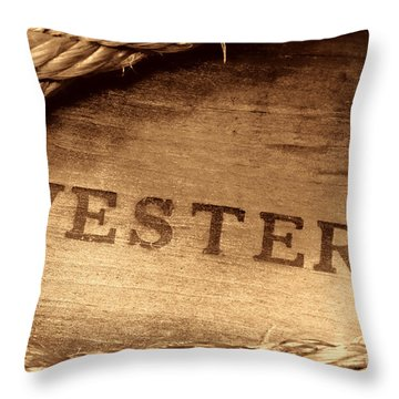 Western Stamp Branding Throw Pillow