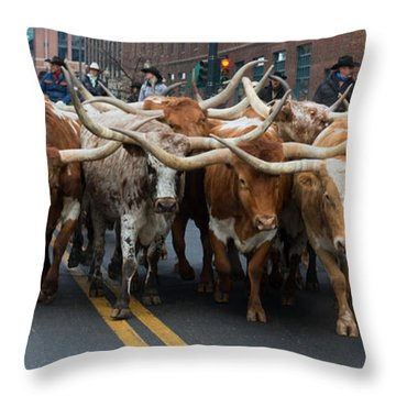 Western Stock Show Throw Pillow