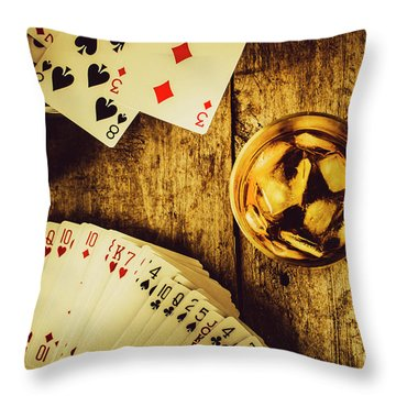 Western Straight Shooter  Throw Pillow
