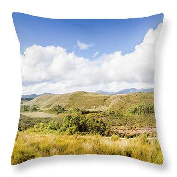 Western Tasmania Panorama Throw Pillow