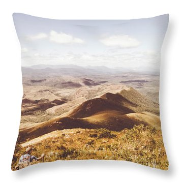 Western Tasmania Wilderness  Throw Pillow