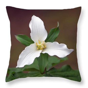 Western Trillium Throw Pillow