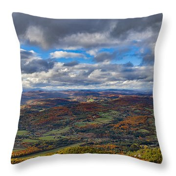 Western View From Mt Ascutney Throw Pillow