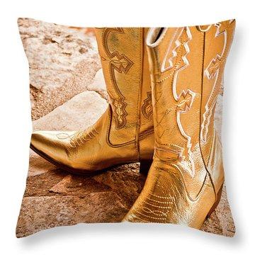 Western Wear Throw Pillow by Jill Smith