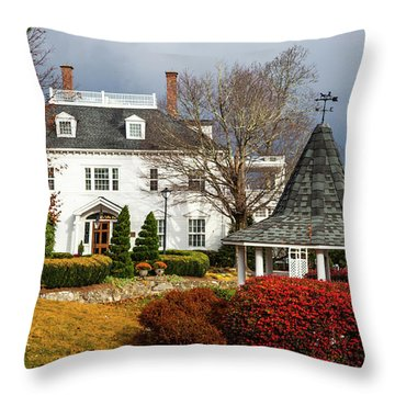 Westglow In Autumn Throw Pillow by Karen Wiles