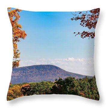 Westhampton View Of Mount Tom Throw Pillow