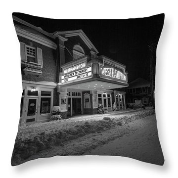 Westhampton Winter Night Throw Pillow