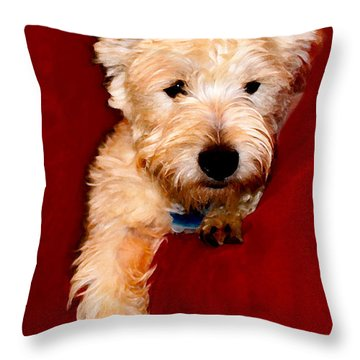 Westie Boy Throw Pillow