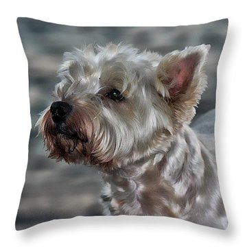 Westie Love Throw Pillow