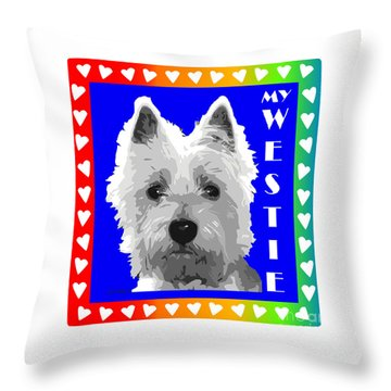 Westie Tshirt Throw Pillow