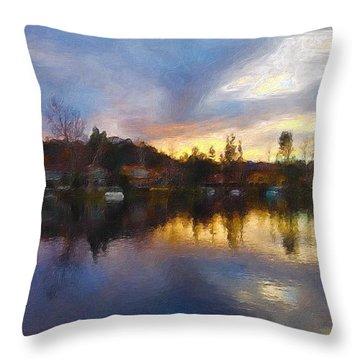 Westlake California  Throw Pillow by Jan Cipolla