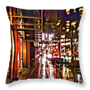 Westlake Rain Throw Pillow