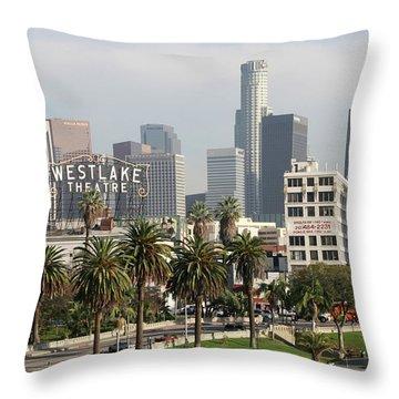 Westlake Theatre To Downtown La Throw Pillow