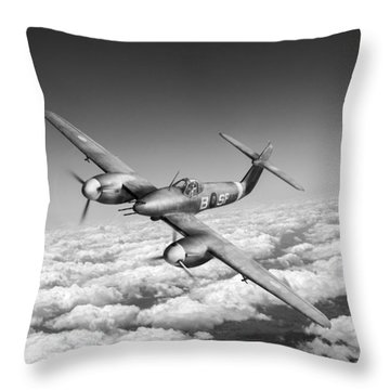 Throw Pillow featuring the photograph Westland Whirlwind Portrait Black And White Version by Gary Eason