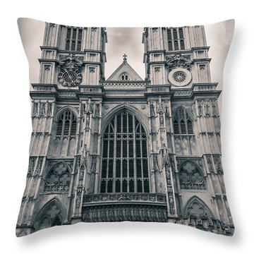 Westminister Abbey Bw Throw Pillow