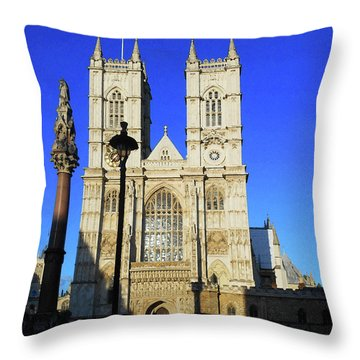Westminster Abbey London England Throw Pillow