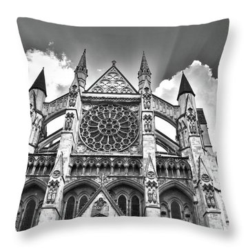 Westminster Abbey Under The Clouds And Rays Throw Pillow