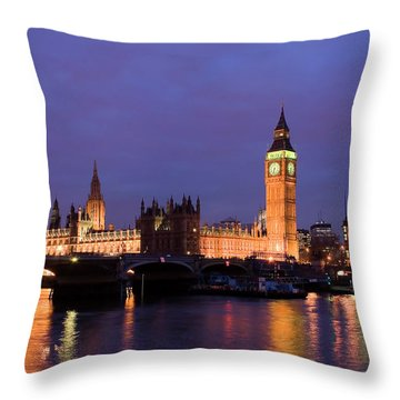 Westminster At Sundown Throw Pillow