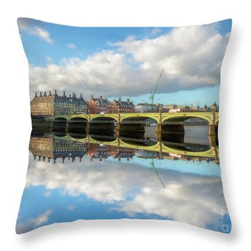 Throw Pillow featuring the photograph Westminster Bridge London by Adrian Evans
