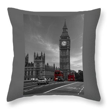 Westminster Bridge Throw Pillow by Martin Newman