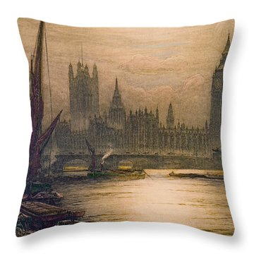 Westminster London 1920 Throw Pillow by Padre Art