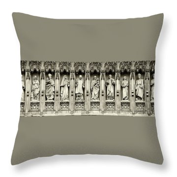 Throw Pillow featuring the photograph Westminster Martyrs Memorial - 1 by Stephen Stookey