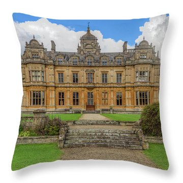 Throw Pillow featuring the photograph Westonbirt School For Girls by Clare Bambers