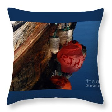 Bouy Reflection Throw Pillow