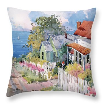 Westport By The Sea Throw Pillow
