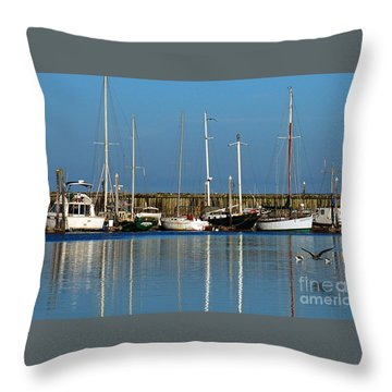 Westport Fishing Fleet I Throw Pillow