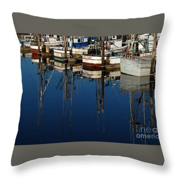 Westport Fishing Fleet II Throw Pillow