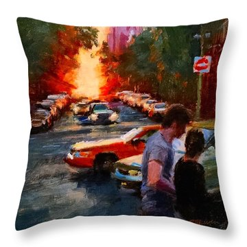 Westside Sunset No. 3 Throw Pillow