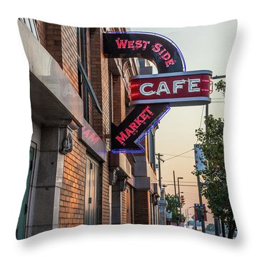 Westsidemarketcafe Throw Pillow