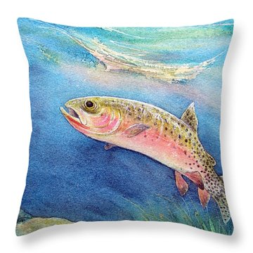 Westslope Cutthroat Throw Pillow by Gale Cochran-Smith