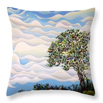 Westward Yearning Tree Throw Pillow